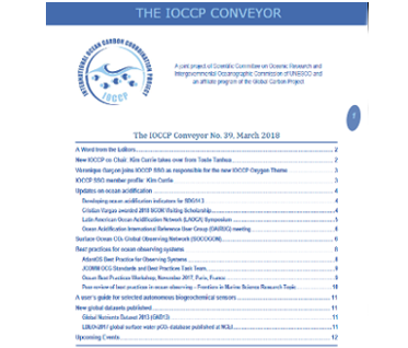 The IOCCP Conveyor No.39, March 2018