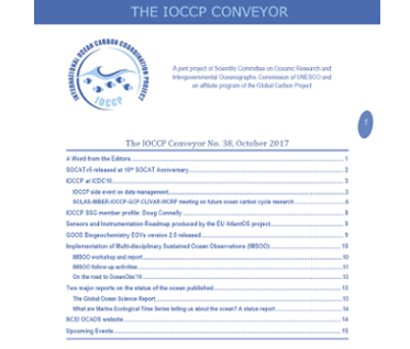 The IOCCP Conveyor No.38, October 2017