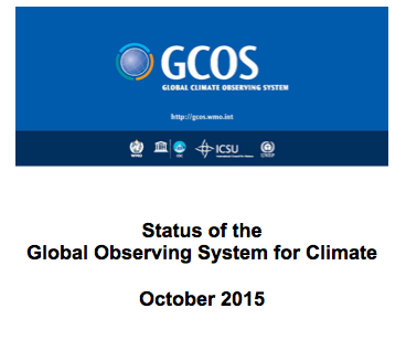 2015 Status Report on the Global Climate Observing System published