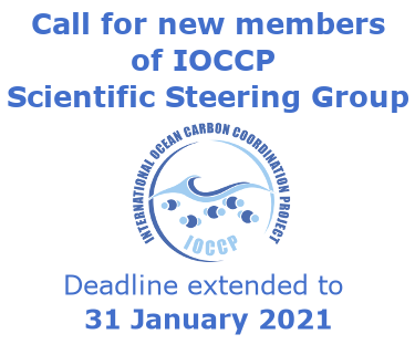 Call for new members for IOCCP SSG - deadline extended to 31 January
