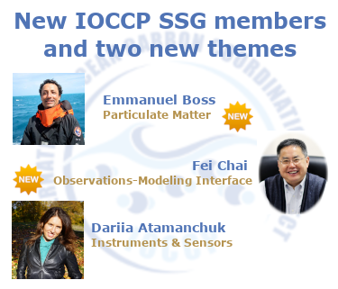 IOCCP welcomes three new SSG members