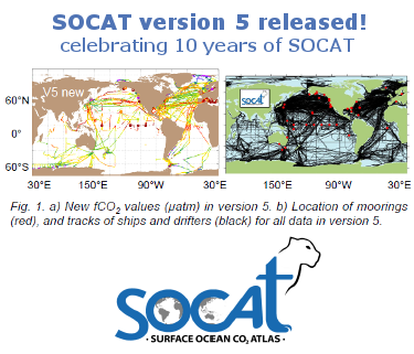 SOCAT version 5 released!