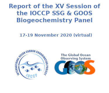Report of the XV Session of the IOCCP SSG & GOOS Biogeochemistry Panel