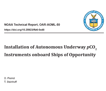 NOAA pCO2 installation manual published